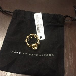 Marc by Marc Jacobs Womens Katie Gold Ring S/M